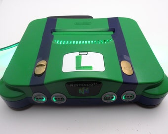 Nintendo 64 Custom Console Luigi