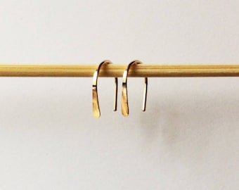 Little Gold Drop stud earrings