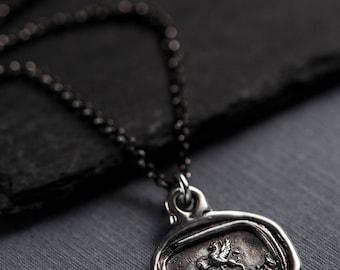 Gryphon Wax Seal Necklace - Carpe Diem - Seize the Day 401