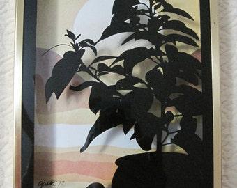 "Shadow Box Wall Hanging, 6""x 10""x 1.25"", Brytone Mechanical Mirror Works, Vintage"