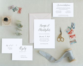 Minimal Wedding Invitations. Modern Wedding Invitation Templates. Simple Wedding Invitations Templates. Printable Wedding Invitations. I-1.