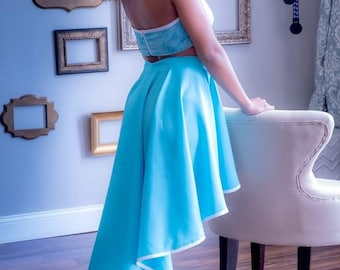 High-Low Long Circle Skirt