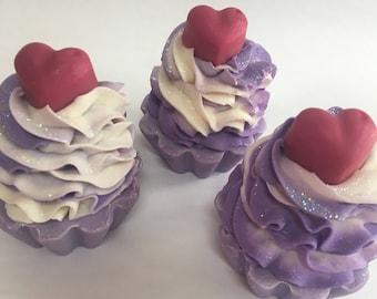 Falling in Love Cupcake Soap