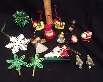 Christmas Vintage - 15 small vintage decorations and ornaments