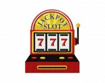 Slot Machine Machine Embroidery Design