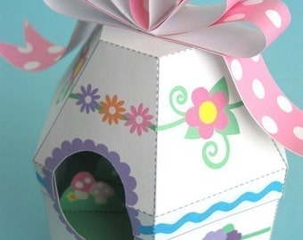 Easter Egg Diorama Printable Paper Craft PDF