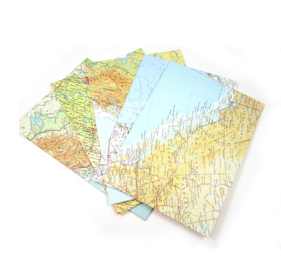 Set of 6 A6 custom sorted envelopes - America & Latin America variations