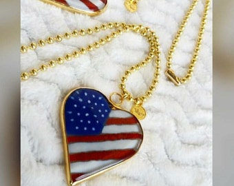 American's Flag Necklace