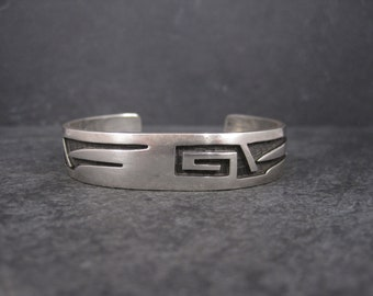 Vintage Hopi Sterling Cuff Bracelet 6 Inches Marcus Coochwykvia