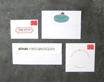 Printed envelopes for wedding invitations and all classy correspondence