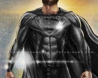 "Superman Resurrection -Dc's 'Justice League' 11x17"" Artist Signed Print LIMITED Ed. VARIANT"
