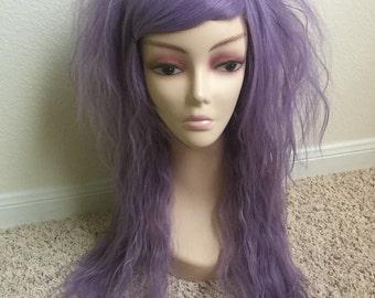 Die Pretty Crimped Hime Gyaru Layered Wig in Lavender