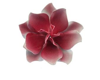 Pale Pink Enamel Flower Brooch, Pink Flower Brooch, Pink Flower Pin