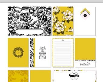 FAMILY Journaling Cards Digital Printable Digital Download Planner Cards Project