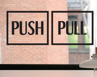 Push Pull Decal, Push Sign, Pull Sign, Push Sticker, Pull Sticker, Door Decal, Door Sign, Business Decal, Pull Door Decal, Push Door Decal