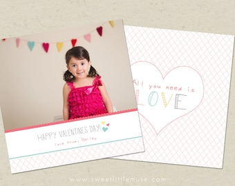 Valentines Day Card template - Valentines Template 5x5