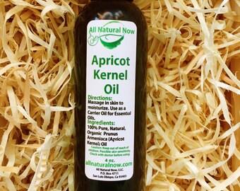 Apricot Carrier Oil/Pure Carrier Oil/Emollient (Moisturizing)/Massage Oil/Rejuvenating/Hydrating/Nourishing/4oz