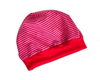 Toddler hat, baby hat, different sizes, Jersey, red