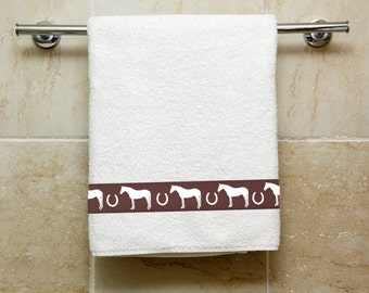 Quarter Horse Bath Towel - With or Without Name -  Your Choice of Colors
