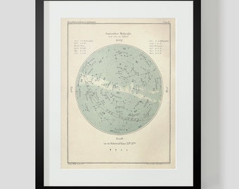 Popular Guide to the Heavens Plate 47 September Star Chart Constellations