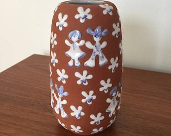 Zeuthen Danish Studio Pottery - Vase with Figures