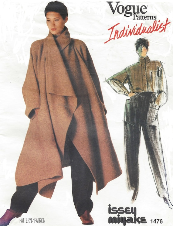80s Issey Miyake Avant Garde Womens Coat Shirt & Pants Vogue