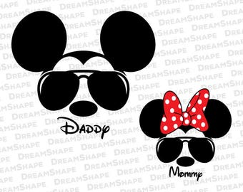 Mouse Ears Shades SVG Cut Files, Mouse Ears Mickey Minnie Spectacles DXF Cutting Files, Mickey and Minnie Shades SVG Files, Instant Download