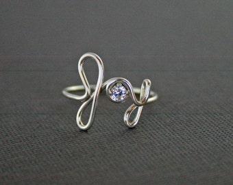 JOY Ring 925 Sterling Silver with Swarovski Crystal