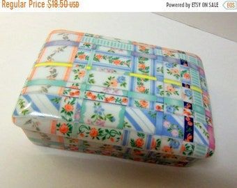 SALE Neiman Marcus Patchwork Porcelain Box