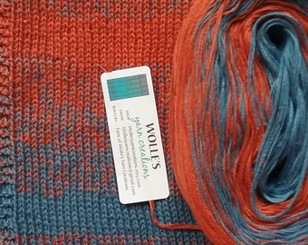 WILDFLOWER STRIPES II -- Color Changing Cotton yarn --  480 yards/100 gr --  Fingering Weight
