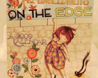 """Mary Engelbreit 2009 Wall Calendar """"On the Edge"""""""