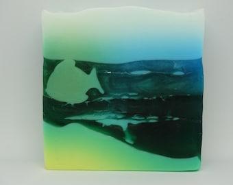 Handmade Artisan, Glycerin based Peppermint Fragranced Soap 100g