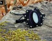 Moonstone Macrame bracele...