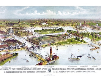 Great Columbian exposition at Chicago, Illinois, 1892-3 In commemoration of the 400th anniversary of the discovery of America by Columbus.