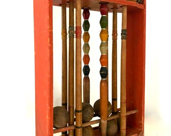 Antique croquet set / lawn croquet set