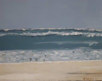 Modern painting Beach Chilean