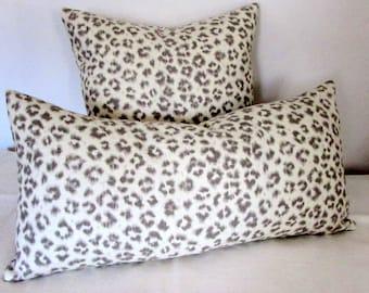 CHEETAH LINEN pillow cover 18x18 20x20 22x22 24x24 26x26 13x26