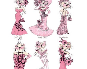 Lady Cats II Embroidery Design Collection - CD