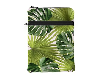 Women's Leaf Tablet Case, Jungle Surface Padded Sleeve, Monstera iPad Pro Sleeve, Banana Leaf Kindle Cover - green tropical palm leaf