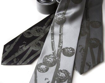 3 silk wedding neckties. Package discount, bundle deal, wedding set of silk ties - our print in custom colors. Bulk deal neckties.