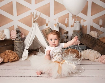 Wild and One Baby Girl 1st Birthday Outfit | Baby Tutu | Tutu Dress | Boho Birthday Dress | Baby Girls Cake Smash Outfits | Birthday Tutu