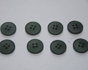 set of 8 buttons 18 mm Green/gray