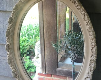 NOW SOLD ** Vintage Oval Gilt Mirror