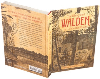 Hollow Book Safe - Walden, or Life in the Woods by Henry David Thoreau (Magnetic Closure)