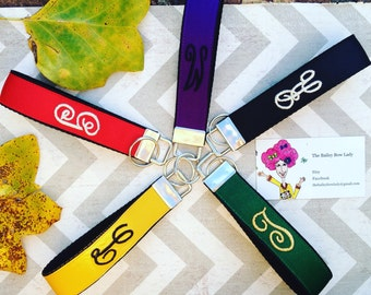You Choose Colors-Monogrammed Key Fob
