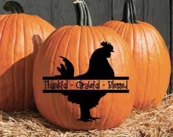 Thankful Grateful Blessed Vinyl Decal Sticker
