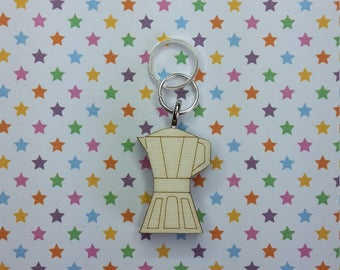 Coffee Maker - wooden stitch marker - knitting notions - charm