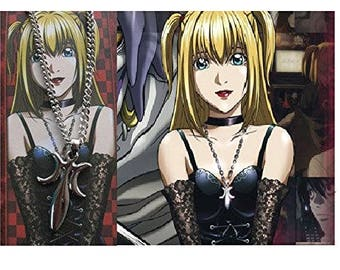 Death Note Misa cosplay necklace in metal necklace