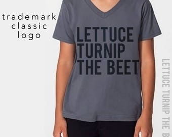 SALE lettuce turnip the beet ® trademark brand OFFICIAL SITE - dark grey vneck - youth M