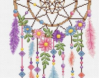 dreamcatcher cross stitch chart